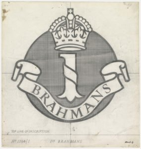 1st Brahmans, crown above text