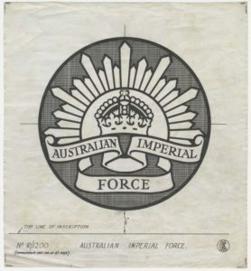 Australian Imperial Force, crown